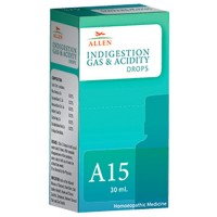 Allen A15 Indigestion Gas & Acidity Drops (30ml) : For Indigestion, Acidity, Gastritis, Metallic Taste in Mouth, Stomach Pain