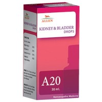 Allen A20 Kidney & Bladder Drops (30ml) : Pain and Burning During Urination (UTI) with Mild to High Temperature, Cloudy and Bloody Urine