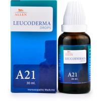 Allen A21 Leucoderma Drops (30ml) : Vitiligo, Pigmentation (White Discoloration) of Skin.