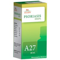 Allen A27 Psoriasis Drops (30ml) : For Psoriasis (Red, Itchy, Dry and Scaly Skin), Dry Eczema, Eruptions On Scalp