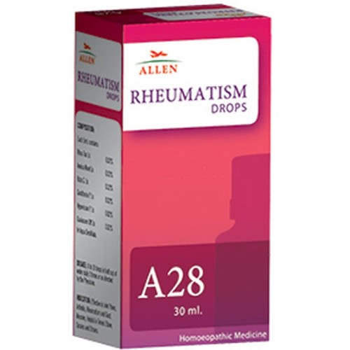 Allen A28 Rheumatism Drops (30ml) : For Muscular Pain and Stiffness, Backache, Arthritis, Knee Pain, Spondylosis
