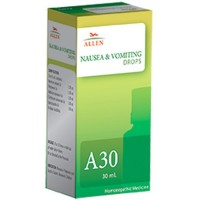 Allen A30 Nausea & Vomiting Drops (30ml) : Nausea During Pregnancy, Road Travel, Sea Sickness, Vomiting of Milk in Children