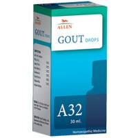 Allen A32 Gout Drops (30ml) : Gout, Pain and Stiffness in Small Joints due to High Uric Acid in Blood