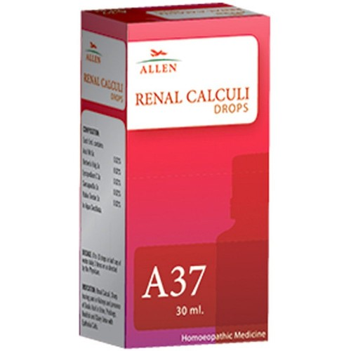 Allen A37 Renal Calculi Drops (30ml) : Renal Calculi, Cloudy, Smelly Urine with Pain and Burning