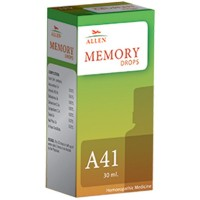 Allen A41 Memory Drops (30ml) : Improves Memory Power in Students and Aged, Helps Concentration, Forgetfulness