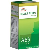 Allen A63 Heart Burn Drops (30ml) : Burning in Chest, Stomach Reflux, Sour or Acid Taste in Throat and Mouth