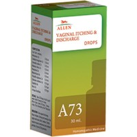 Allen A73 Vaginal Itching & Discharge Drops (30ml) : Vaginal Discharge, Irritation, Itching and Burning in Vagina, Red Swollen Skin
