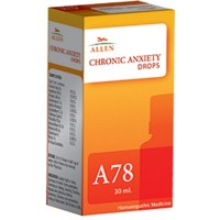 Allen A78 Chronic Anxiety Drops (30ml) : Sudden Fright or Shock, Shortness of Breath, Palpitations, Trembling and Shaking
