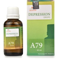 Allen A79 Depression Drops (30ml) : Hopelessness, Low Mood, low Energy, Fears, Insomnia, Suicidal Thoughts