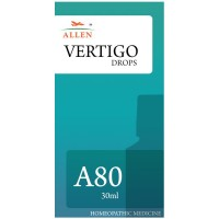 Allen A80 Vertigo Drops (30ml) : Vertigo with Difficulty in Walking or Standing, Nausea, Vomiting and Sweating