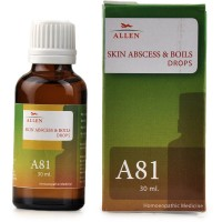 Allen A81 Skin Abscess And Boils Drops (30ml) : Boils with Thick, Yellow Pus Formations Under the Skin with Swelling and Pain