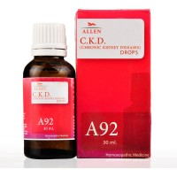 Allen A92 Chronic Kidney Diseases (CKD) Drops (30ml) : Gradual Loss of Kidney Functions with High Levels of Creatinine, Scanty Urine