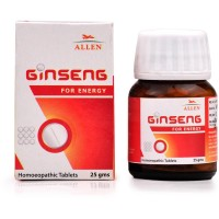 Allen Ginseng Tablets (25g) : Strengthens Nervous System and Physical Strength, useful in Fatigue and Weakness