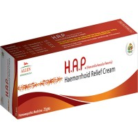Allen H.A.P (Haemorrhoid Relief Cream) (25g) : Relief from Bleeding, Painful, Burning, Itching in Piles and Anal Fissures