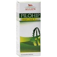 Allen Pilohip Syrup (100ml) : Bleeding, Painful, Burning, Itching in Piles and Anal Fissures, Constipation