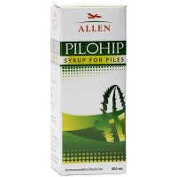 Allen Pilohip Syrup (500ml) : Bleeding, Painful, Burning, Itching in Piles and Anal Fissures, Constipation