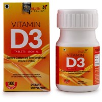 Allen Vitamin D3 (100tab) : Supports Calcium and Bone Metabolism, For Immune Function