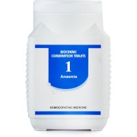 Bakson Biochemic Combination 1 (450g) : For Iron Deficiency, Anemia, Poor Digestion, body Wasting, Weakness