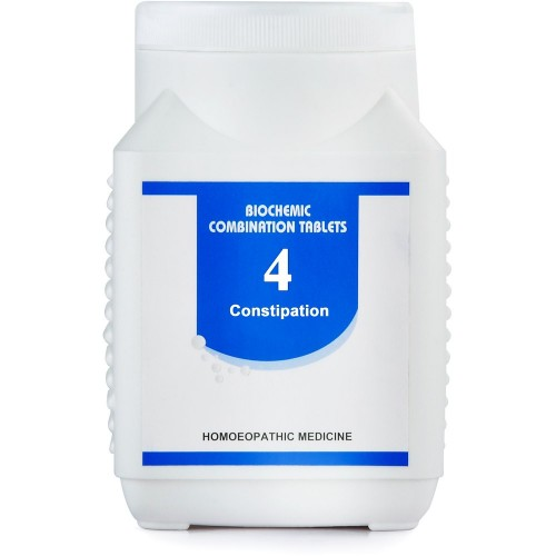 Bakson Biochemic Combination 4 (450g) : Constipation, Stool Dry and Hard, Lack of Appetite, Bad breath from mouth