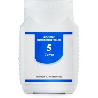 Bakson Biochemic Combination 5 (450g) : For Coryza, Thick Nasal Discharge, Sinusitis, Sneezing, Nasal Blockage