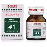 Bakson Compound No 1 (Backache) (100tab) : Relieves Back Pain and Stiffness