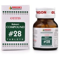Bakson Compound No 28 (Otitis) (100tab) : Relieves Earache, Discharge and Hardness of Hearing