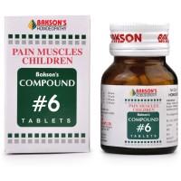 Bakson Compound No 6 (Pain Muscles Children) (100tab) : Relieves Cramps, Growing Pains, Weak Muscles