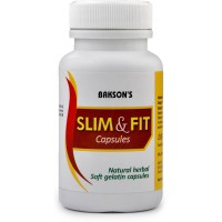Bakson Slim & Fit Capsules (50caps) : Reduce Excessive Weight, Increase Metabolism, Thyroid Disorders