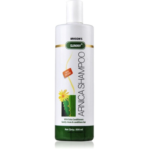 Bakson Sunny Arnica Shampoo (500ml) : Extra Conditioners Gently Cleans & Conditions Hair, Controls Hair Loss & Dandruff