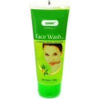 Bakson Sunny Face Wash with Aloe Vera, Calendula, Neem and Tulsi (100g) : Skin looking Fresh, Supple with Healthy Glow, Cleanses Deeply, Soothes Skin