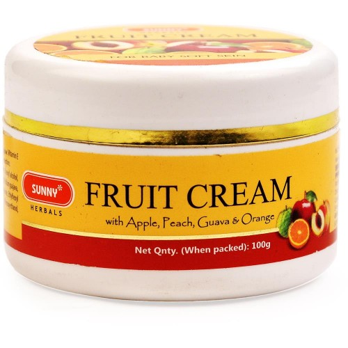 Bakson Sunny Fruit Cream (100g) : With Apple, Peach, Guava & Orange, Skin Replenishing Cream Which Keeps Wrinkles at Bay