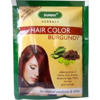 Bakson Sunny Hair Color (Burgundy) (20g) : Delivers Rich, Long-Lasting Color with Radiant Shine and Hair that Feels like Silk