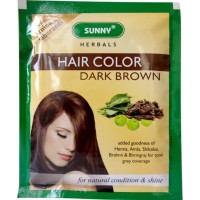 Bakson Sunny Hair Color (Dark Brown) (20g) : Delivers Rich, Long-Lasting Color with Radiant Shine and Hair that Feels like Silk