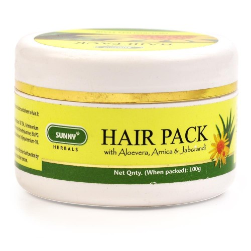 Bakson Sunny Hair Pack (100g) : Revitalising with Arnica & Jaborandi that Promotes Hair Growth, Also Gives Lustre
