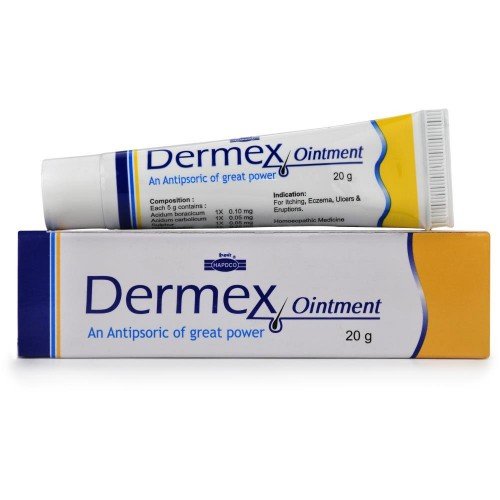 Hapdco Dermex Cream (20g) : Relieves Itching, Redness, Dry Eczema, Psoriasis, Cracked and Flaky Skin