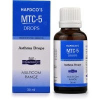 Hapdco MTC-5 (Asthma Drops) (30ml) : For Asthma, Bronchitis, Breathing Problems, Spasmodic Cough