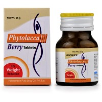 Hapdco Phytolcca Berry Tablets (25g) : Helps in maintaining excess Weight, Post Natal Weight Gain