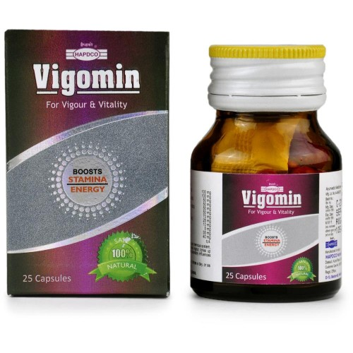 Hapdco Vigomin Capsules (25caps) : Helps regain strength, stamina and deals with Erectile Dysfunction, Premature Ejaculation