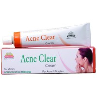 Wheezal Acne Clear Cream (25g) : Nourishes Skin, Clears Acne, Pimples and Marks for a Blemish Free Glowing Face