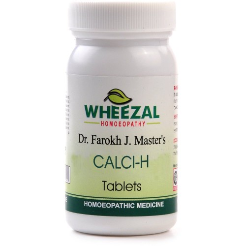 Wheezal Calci-H Tablets (75tab) : Helps in Osteoporosis, Provides Strength to Bones, Relieves Joint Pains