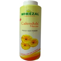 Wheezal Calendula Nectar Powder (100g) : Talcum Powder, Helps Fight Bacteria due to Sweat, Pleasant Aroma