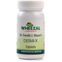 Wheezal Dermi-X Tablets (75tab) : Useful in Urticaria, Hives, Dry, Cracked Skin, Eczema and Herpes