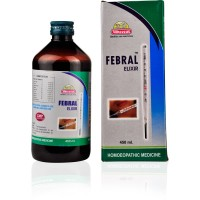 Wheezal Febral Elixir Syrup (450ml) : Helps in Mild to Severe Temperature, Chills in temperature, Body ache