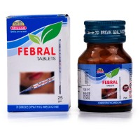 Wheezal Febral Tablets (25g) : Lowers Mild to Severe Temperature, Chills in temperature, Body ache