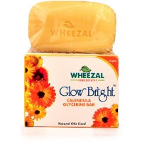 Wheezal Glow Bright Calendula Glycerine Soap (75g) : Calendula Have Antiseptic & Antibacterial Properties, Keeps Skin Healthy & Clean