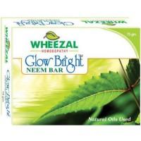 Wheezal Glow Bright Neem Soap (75g) : Neem Oil Having Anti Bacterial and Antifungal Properties, Helps Keep Away Germs