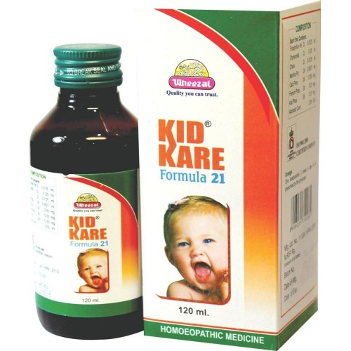 Wheezal Kid Kare Syrup (120ml) : Helps Build Up Immunity, Improves Metabolism, Digestion and Dentition Problems