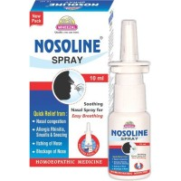 Wheezal Nosolin Spray (10ml) : For Allergic Rhinitis, Nasal Polyp, Sinusitis, Itchy Eyes, Watery Nose