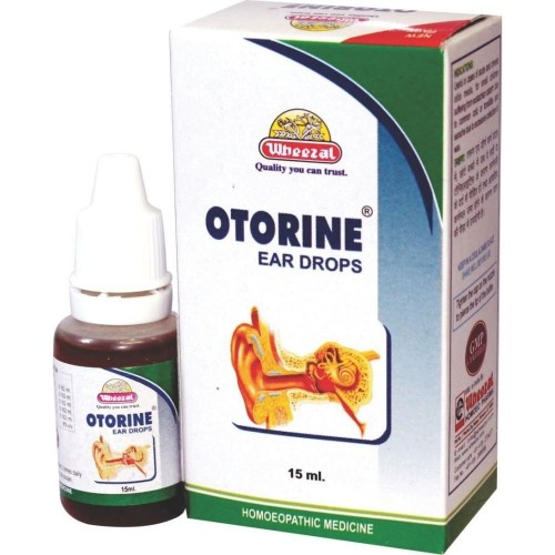 Wheezal Otorin Ear Drops (15ml) : For Ear pain, Otitis, Ear Discharge, Infection of ear, Excessive Wax