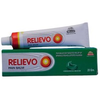 Wheezal Relievo Ointment (25g) : Relieves Joint Pain & Stiffness, Relieves Muscle Spasms & Fatigue